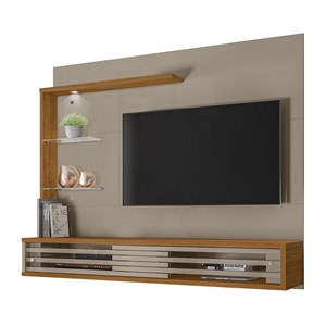 Painel Bancada Para TV 50 Polegadas Frizz Select Fendi Naturale Madetec