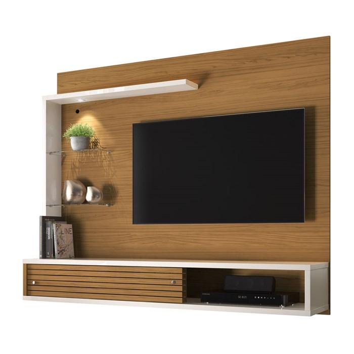 Painel Bancada Para TV 50 Polegadas Frizz Select Naturale Off White Madetec