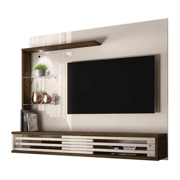 Painel Bancada Para TV 50 Polegadas Frizz Select Off White Savana Madetec