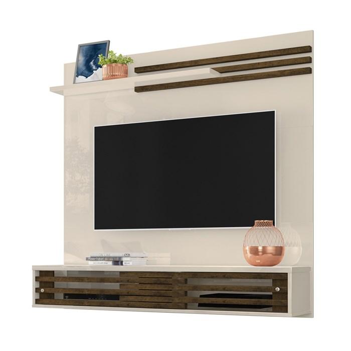 Painel Bancada Para TV 55 Polegadas Frizz Sublime Off White Savana Madetec