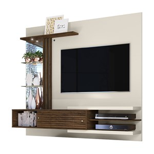 Painel Bancada Para TV 55 Polegadas Frizz Supreme Off White Savana Madetec