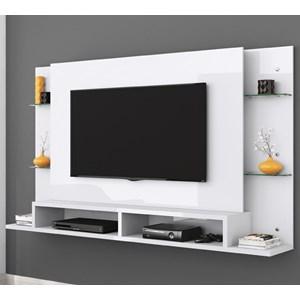 Painel Bancada Para TV 55 Polegadas Malbec Branco Mobler