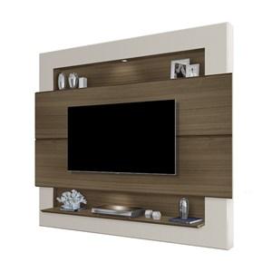 Painel Bancada Para TV 57 Polegadas Riviera Amendoa Off White LPA Milani Store