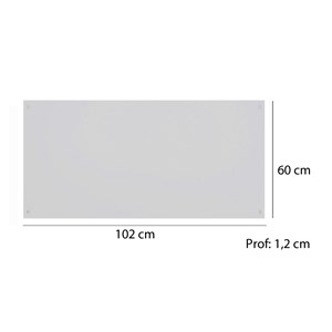 Painel Cabeceira Solteiro 102cm Modena 79100 Branco Demobile