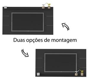 Painel Para TV 47 Polegadas Slim Preto Artely