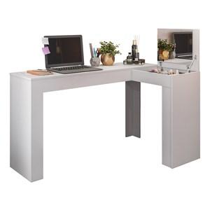 Penteadeira Escrivaninha Branco Com Espelho ST Plus Milani Store