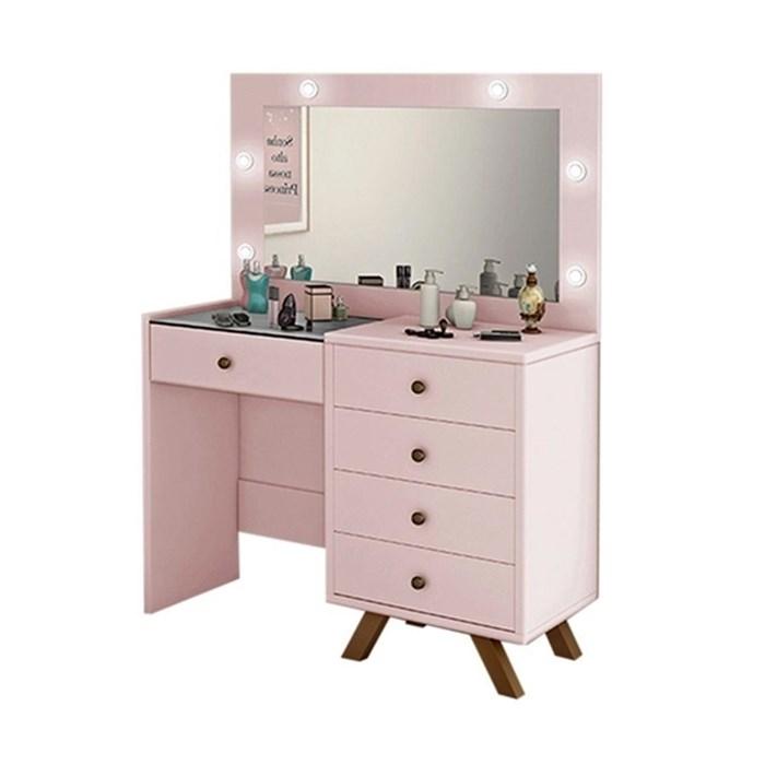 Penteadeira Escrivaninha Luna Rose Com Espelho LPA Milani Store