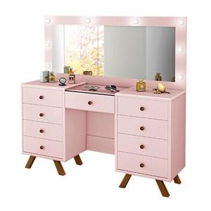 Penteadeira Escrivaninha Mila Rose Com Espelho LPA Milani Store