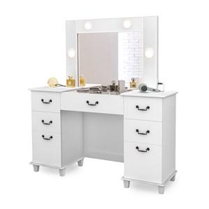 Penteadeira Escrivaninha Seul Branco Com Espelho LPA Milani Store