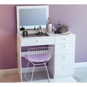 Penteadeira Milla com Espelho Branco Milani Móveis
