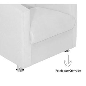 Poltrona Decorativa Ilda 01 Lugar Suede Branco Atual Estofados