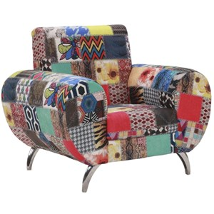 Poltrona Decorativa Noruega Patchwork Mobile