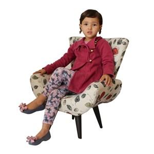 Poltrona Infantil Emilinha Jacquard 40082 Edecor