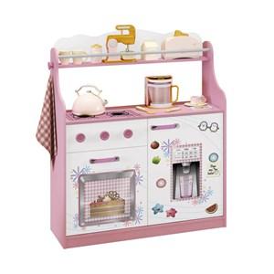 Porta Brinquedos Kitchen Branco Rosa M Estrela