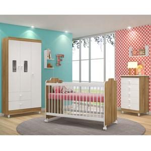 Quarto Completo Infantil Vitoria 9800 Nature Branco Peternella