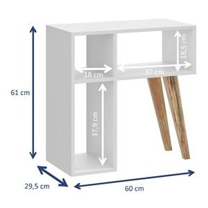 Rack 02 Portas E Nicho Leaves Branco Be Mobiliario