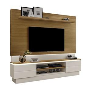 Rack E Painel Para TV 75 Polegadas London Carvalho Off White LPA Milani Store