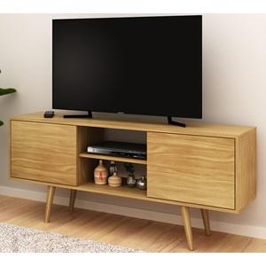 Rack Para TV 55 Polegadas 2 Portas R1464 Natural Tecno Mobili