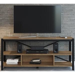 Rack Para TV Em Aço Steel Light 14065 Vermont Preto Fosco Artesano