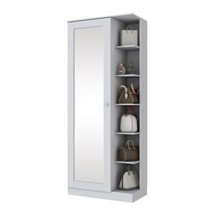 Sapateira 1 Porta Com Espelho Duetto D182 Branco HP Henn